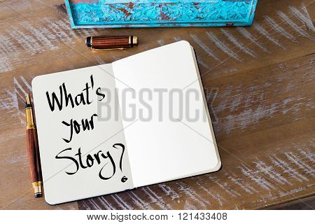 Written Text What's Your Story ?
