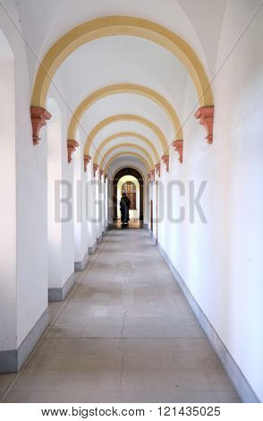 PLETERJE, SLOVENIA - NOVEMBER 06: Carthusian monastery in Pleterje, Slovenia on November 06, 2015