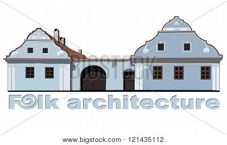 folk house illustration