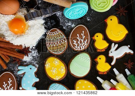 Cooking easter cookies