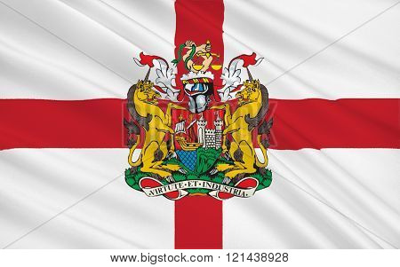 Flag Of Bristol Is A City, Unitary Authority And County, England