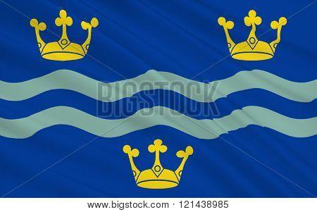 Flag Of Cambridgeshire County, England