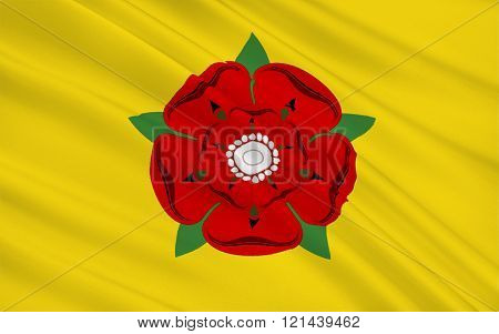 Flag Of Lancashire County, England