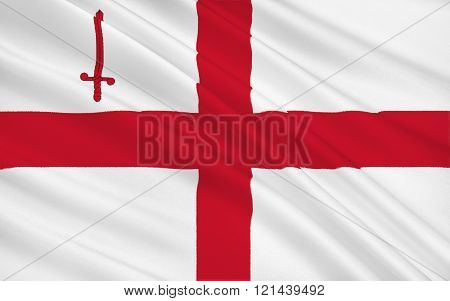 Flag City Of London, England