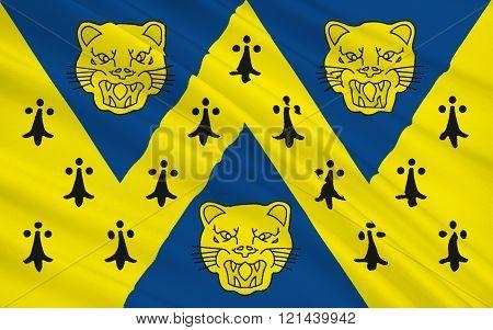 Flag of Shropshire county, England