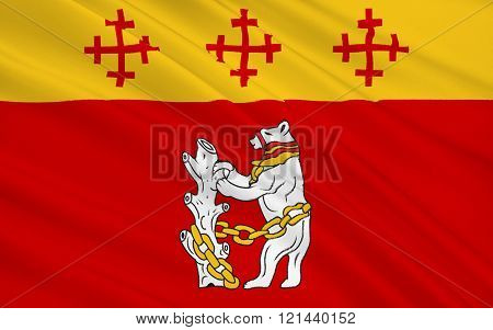 Flag Of Warwickshire County, England