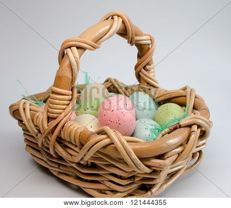 Colorful Eggs Easter Basket
