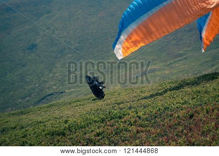 Paraglider Is Starting.
