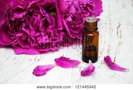 Peony Flowers And  Massage Oils