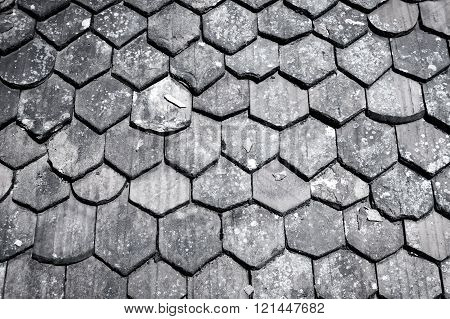 Old Roof Shingles Background
