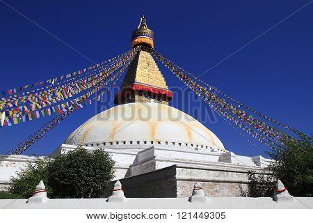 Boudhanath in Kathmandu, Nepal.