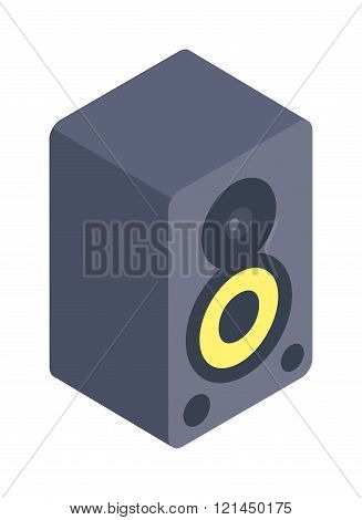 Stereo system isolated on white background illustration.
