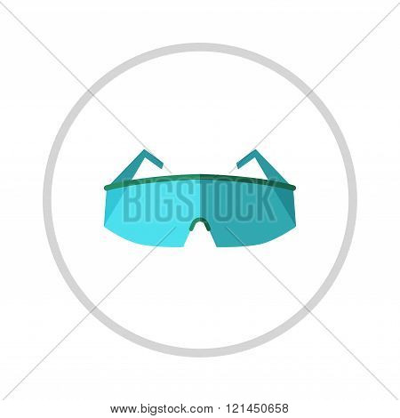 Glasses, eye protection illustration isolated on white background.