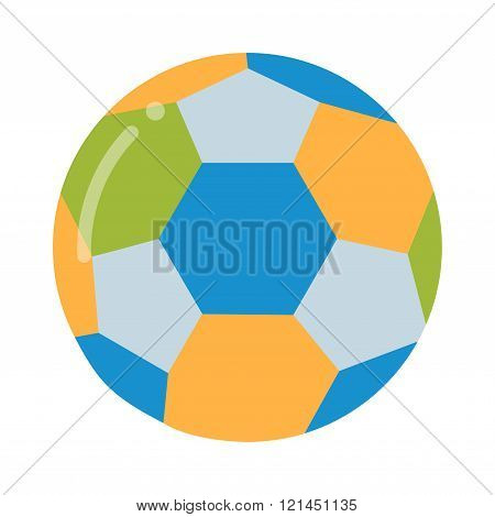 Soccer ball isolated on white vector illustration.