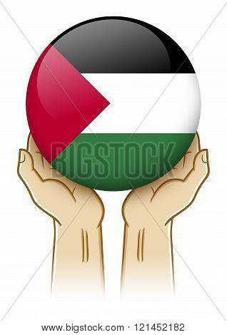 Pray For Palestine Illustration