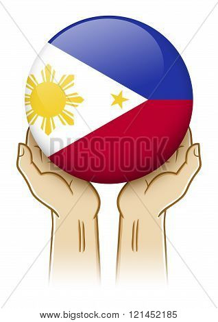 Pray For Philippines Illustration