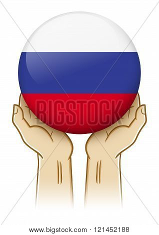 Pray For Russia Illustration