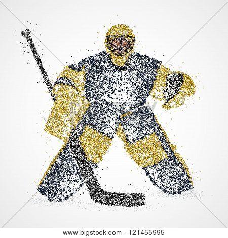goalie, abstraction, hockey