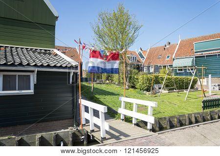 Queen's day in Marken, The Netherlands