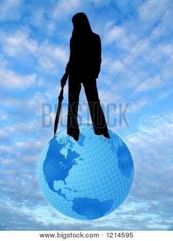 Sky, Earth And Woman