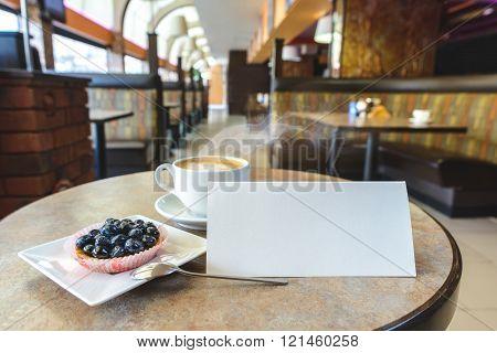 Fruit dessert in cafe