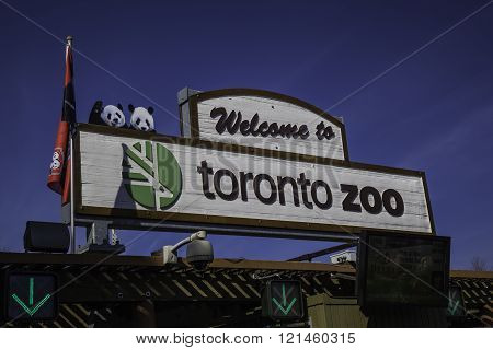 Main gate of Toronto Zoo