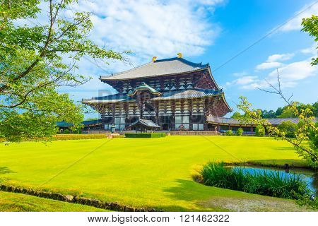 Daibutsuden Great Buddha Hall Front Angled Lawn H