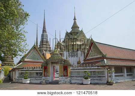 On the territory of the temple Wat Pho. Bangkok
