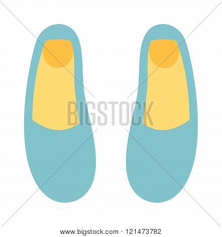 Ballet shoes dance studio symbol - illustration