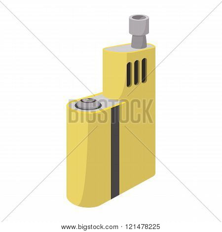 Vaporizer device icon, cartoon style