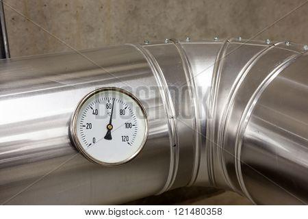 Temperature Meter Of Water Pipes