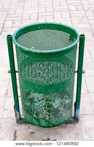 Outdoor bin in green color