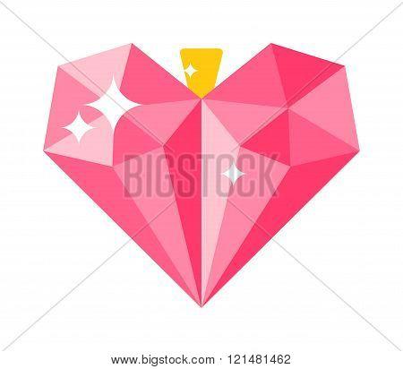 Love concept heart decoration vector illustration.