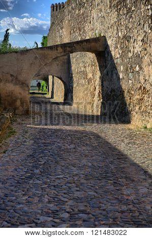 Emblematic popular architecture in Campomaior Alentejo Portugal