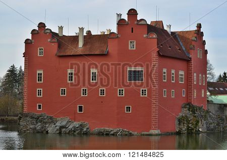 Beautiful Castle Historical Monument Cervena Lhota , South Bohemia