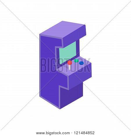 Arcade game machine icon, isometric 3d style
