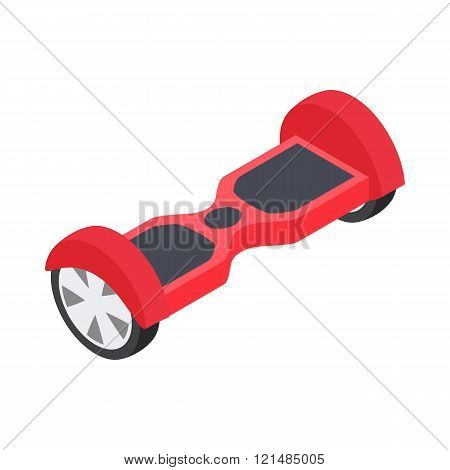 Dual wheel self balancing electric skateboard icon