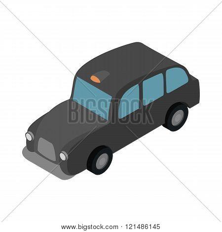London black cab icon, isometric 3d style
