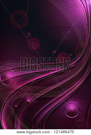 Satin dark purple background covered curves