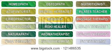Alternative Therapy Buttons