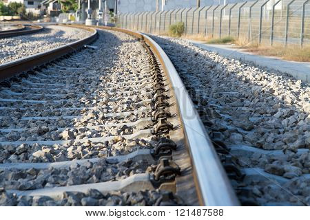 Photo Of Railway Tracks.