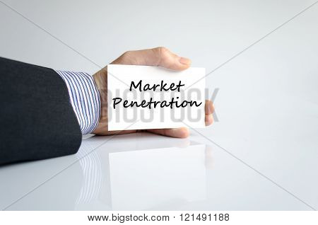 Market penetration text concept isolated over white background