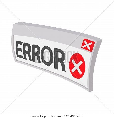Error icon, cartoon style