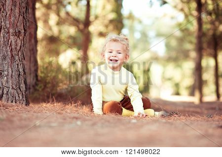 Smiling child girl