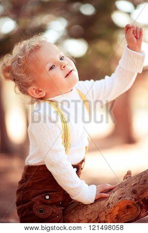 Playful baby girl