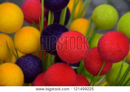 Colorful Easter Decoration Arrangement In Vilnius Tradition Fair