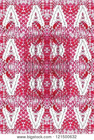 Seamless Abstract Symmetrical Pattern. Created On The Basis Of Drawing