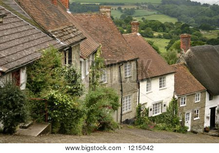 Gold Hill, Shaftesbury, Dorset, England, Uk