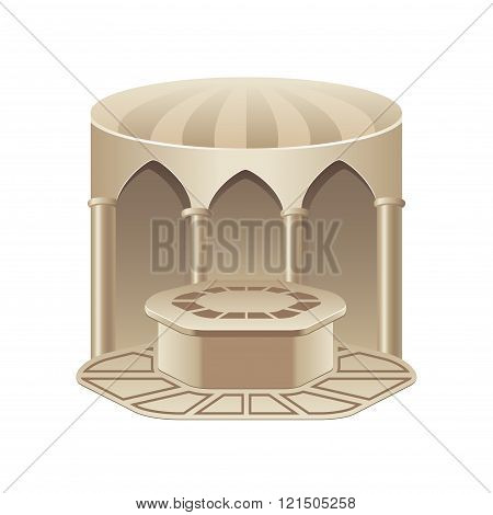 Turkish Bath Hammam Isolated On White Vector