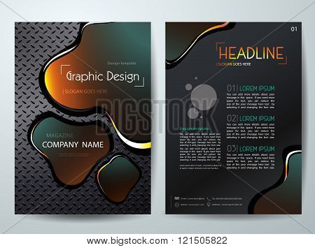 Vector Magazine, Flyers Brochure,cover,annual Report,design Templates,With Abstract Background
